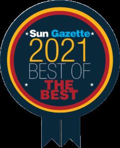 The Sun Gazette 2021 Best of the Best award.